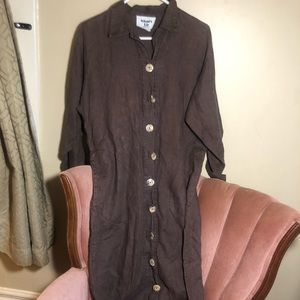Maxi dress or long layering linen jacket